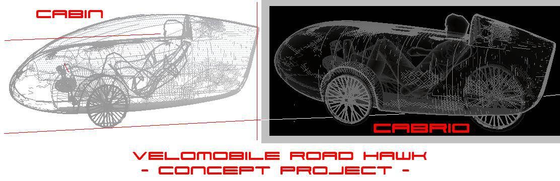 Velomobile Road hawk - Concept Project Cabrio Cabin 0