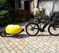 Egg & Roll bike and velomobile trailer